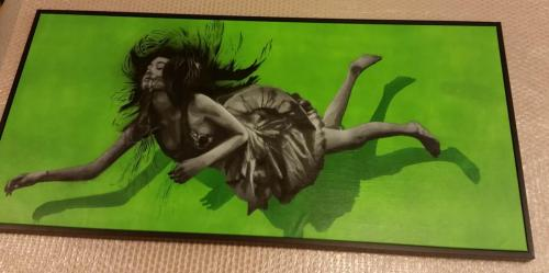 Falling girl canvas