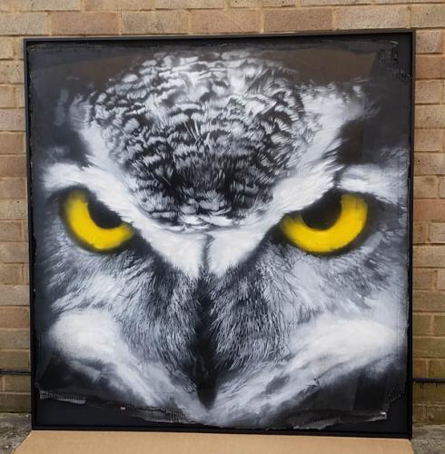 Owl on card