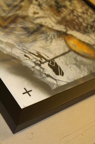 stencil framed Snik