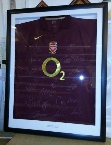 Arsenal Team Signed Shirt Framed