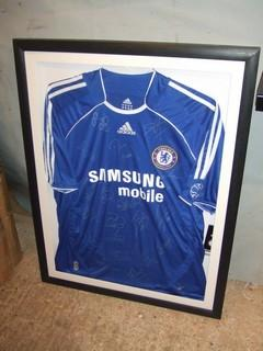 Chelsea shirt football framing