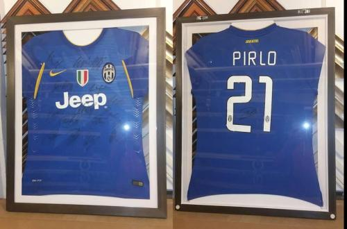 Double sided Shirt Framing, Juventus FC Team Signed Shirt