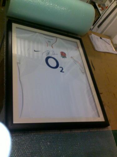 England Rugby Signed Shirt Martin Johnson