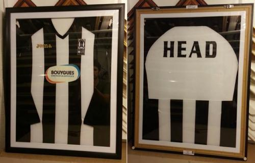 Glass both sides shirt framing