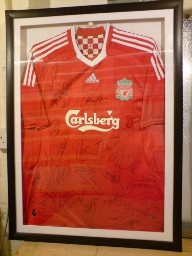 Liverpool Team Signed Shirt