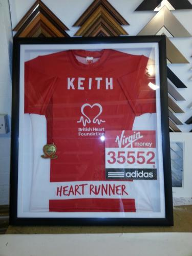 London Marathon Shirt and Medal Framing