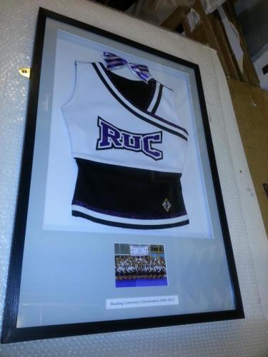 Reading Cheerleaders Top and Bow Framed