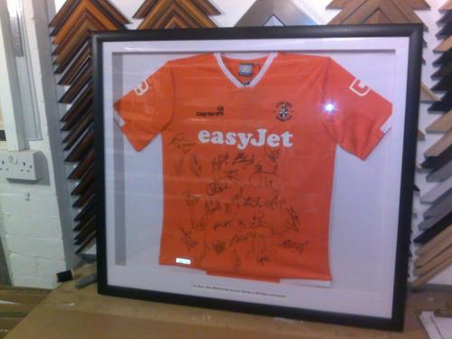 Signed Leaving Shirt Framed