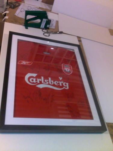 Signed Liverpool Shirt Framed