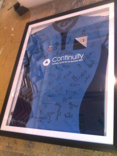Signed Shirt Framing