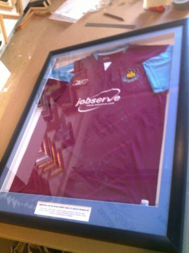 Team signed Shirt framed