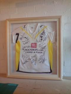Tottenham shirt football framing-signed-team