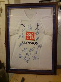 Tottenham shirt football framing